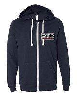 BTR Triple Layer Logo Lightweight Zip Up Hoodie